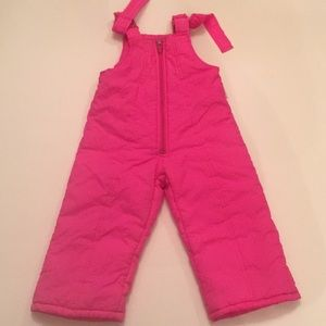 Weather Tamer Hot Pink Snow Suit Overalls